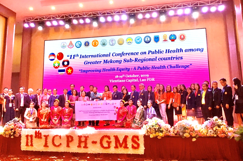 Attending the 11th International Conference on Public Health among Greater Mekong Sub-regional Countries in Vientiane, Lao PDR